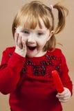 Ragazza rossa dei capelli Fotografia Stock