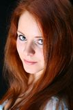 Ragazza rossa dei capelli Immagini Stock Libere da Diritti