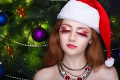 Ragazza Santa sexy Fotografie Stock Libere da Diritti