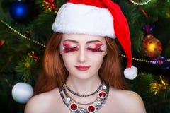 Ragazza Santa sexy Fotografie Stock