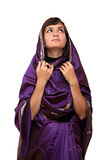 Ragazza in sari Fotografie Stock Libere da Diritti