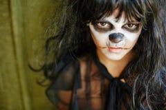 Ragazza scontrosa di Halloween immagine stock libera da diritti