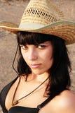 Ragazza sessuale in cappello fotografia stock libera da diritti