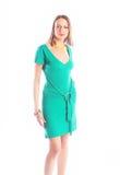 Ragazza sexy in abito verde Immagini Stock
