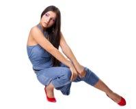 Ragazza sexy che propone in panno di stile del rnb Fotografie Stock Libere da Diritti