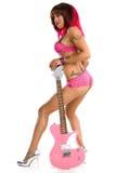 Ragazza sexy con la chitarra Fotografia Stock Libera da Diritti