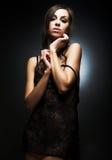Ragazza sexy del brunette Fotografia Stock Libera da Diritti