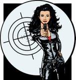Ragazza sexy dell'agente segreto royalty illustrazione gratis