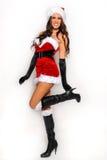 Ragazza sexy dell'assistente di Santa Fotografia Stock