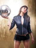Ragazza sexy della discoteca del DJ Fotografia Stock Libera da Diritti