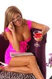Ragazza sexy di affari del Martini Fotografia Stock