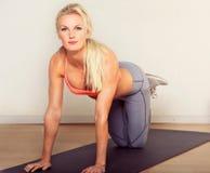 Ragazza sexy di yoga Fotografie Stock Libere da Diritti