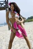 Ragazza sexy sulla spiaggia Immagini Stock Libere da Diritti