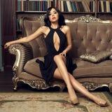 Ragazza sexy in vestito Fotografie Stock