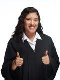 Ragazza sorridente con il pollice su Fotografie Stock Libere da Diritti