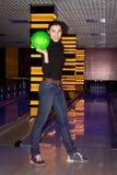 Ragazza sorridente con la palla Fotografia Stock