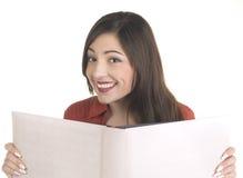 Ragazza sorridente dell'allievo con i libri Fotografie Stock Libere da Diritti