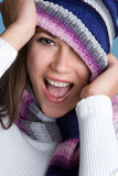 Ragazza sorridente di inverno Immagini Stock