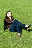 Ragazza sorridente graziosa Fotografia Stock