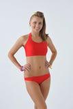 Ragazza sorridente in swimwear Fotografia Stock