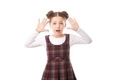 Ragazza spaventata della scuola Fotografia Stock Libera da Diritti