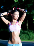 Ragazza sportiva fotografie stock