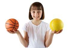Ragazza sportiva Fotografia Stock
