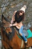 Ragazza su un cavallo immagine stock libera da diritti