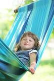 ragazza su un hammock Immagini Stock Libere da Diritti