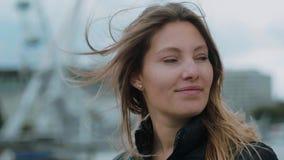 Ragazza su un viaggio a Londra archivi video