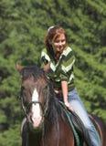 Ragazza sul cavallo Immagini Stock Libere da Diritti