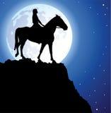Ragazza sul cavallo royalty illustrazione gratis