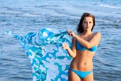 Ragazza sul mare Fotografia Stock Libera da Diritti