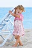 ragazza sul puntello del mare Fotografia Stock Libera da Diritti