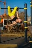 Ragazza sull'allenamento della via Fotografia Stock Libera da Diritti