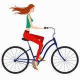 Ragazza sulla bici Immagini Stock
