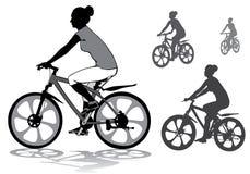Ragazza sulla bici Fotografia Stock Libera da Diritti