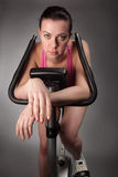 Ragazza sulla bicicletta Fotografia Stock Libera da Diritti