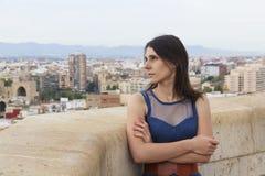 Ragazza sulla cima di Valencia Fotografie Stock Libere da Diritti
