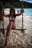 Ragazza sulla spiaggia Fotografia Stock Libera da Diritti