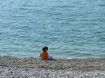Ragazza sulla spiaggia Immagine Stock Libera da Diritti