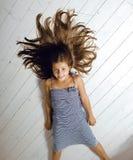 Ragazza sveglia a casa Fotografia Stock Libera da Diritti