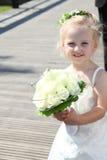 Ragazza sveglia del bambino della gente di fiore Immagine Stock Libera da Diritti