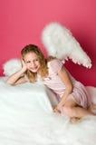 Ragazza sveglia di angelo Immagine Stock Libera da Diritti