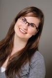 Ragazza sveglia in occhiali/occhiali Immagine Stock Libera da Diritti