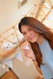 Ragazza tailandese del ritratto Immagini Stock Libere da Diritti