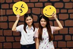 Ragazza tailandese gemellata del ritratto Fotografia Stock Libera da Diritti