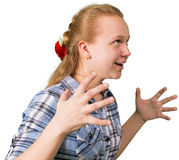 Ragazza teenager arrabbiata Fotografia Stock