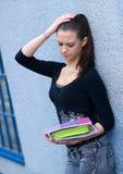 Ragazza teenager con i libri Immagine Stock Libera da Diritti