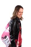 Ragazza teenager con la chitarra Fotografie Stock